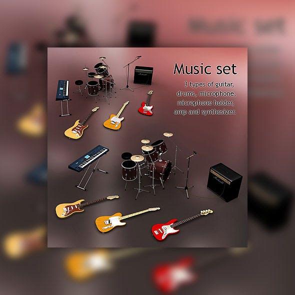 Music set - 3DOcean Item for Sale