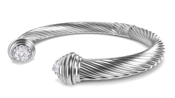 Twisted Bracelet 2 - 3DOcean Item for Sale