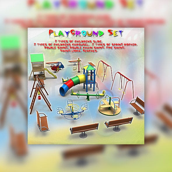 Playground Set - 3DOcean Item for Sale