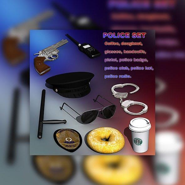 Police set - 3DOcean Item for Sale