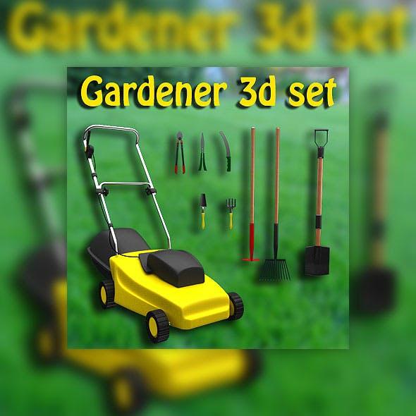 Set gardener - 3DOcean Item for Sale