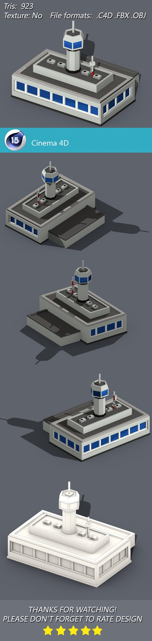 Low Poly Control Station - 3DOcean Item for Sale