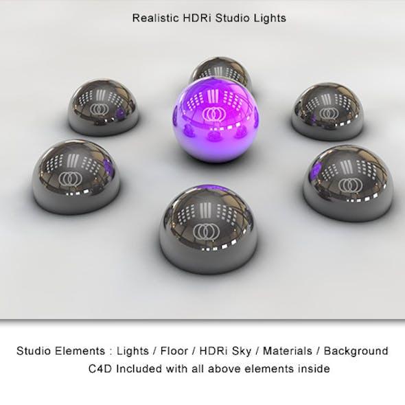 Realistic HDRi Studio Lightning