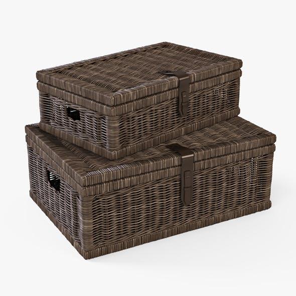 Wicker Basket 06 (Walnut Brown Color)