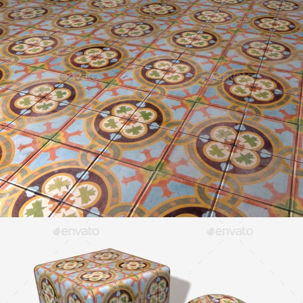 Old Fashioned Tiles Seamless Texture