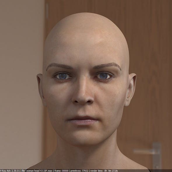 3d model woman head photorealistic female