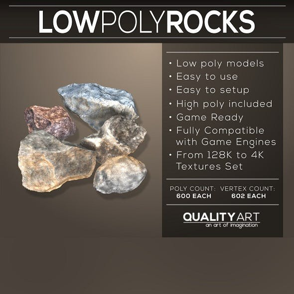 Low Poly Rocks - Realistic Models Pack