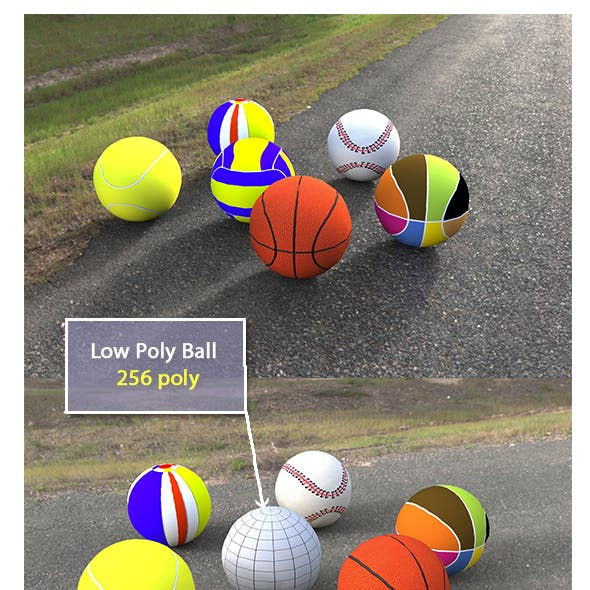 Low Poly Game Balls