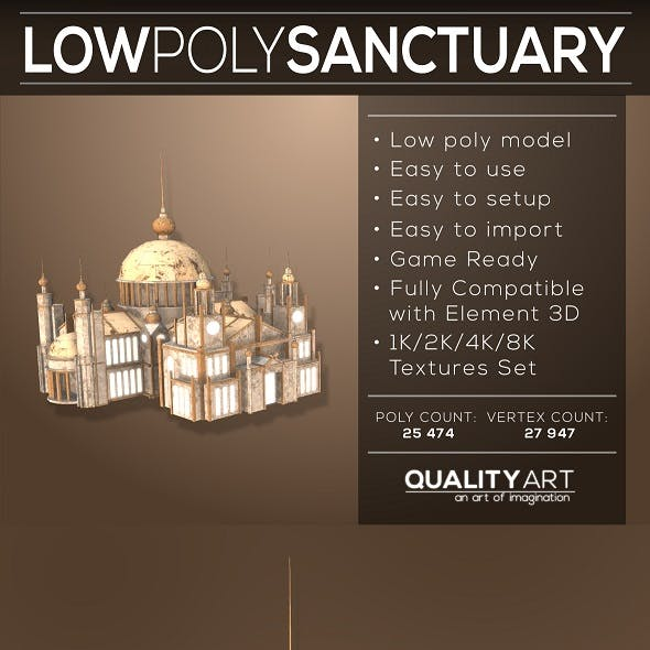Low Poly Sanctuary - Realistic Models Pack