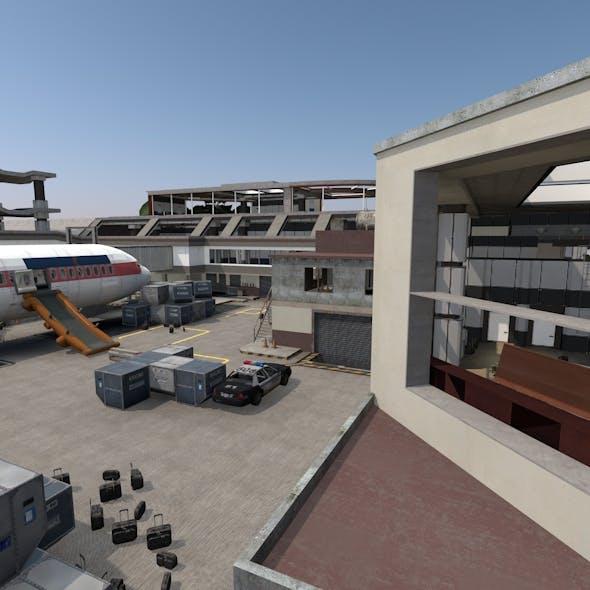 Airport Scene - 3DOcean Item for Sale