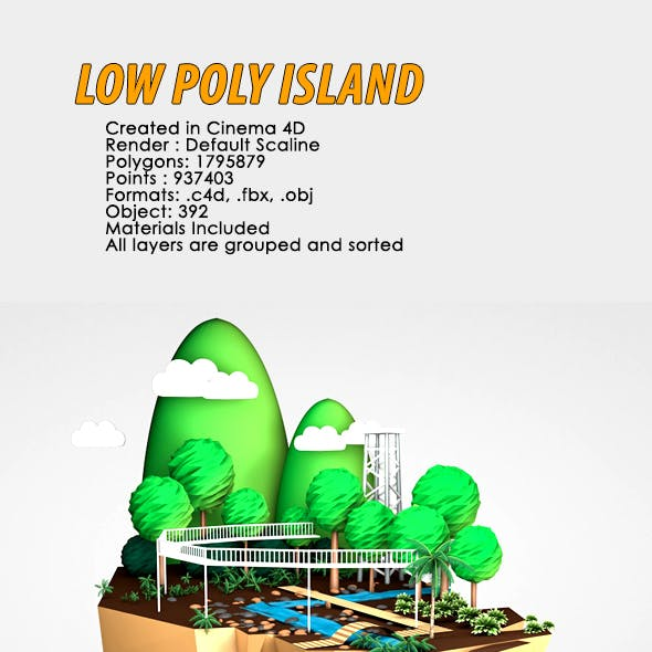 3D Low Poly Island