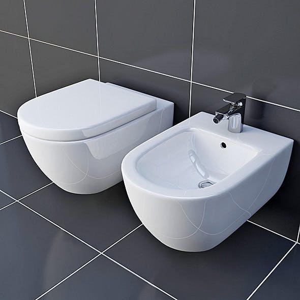 Toilet & Bidet Villeroy&Boch Subway - 3DOcean Item for Sale