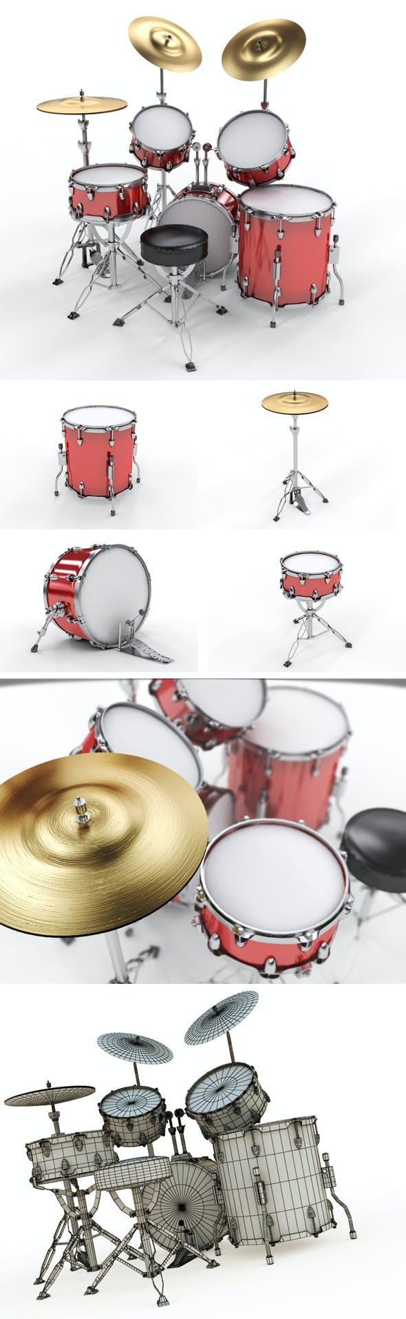 Drum Set - 3DOcean Item for Sale