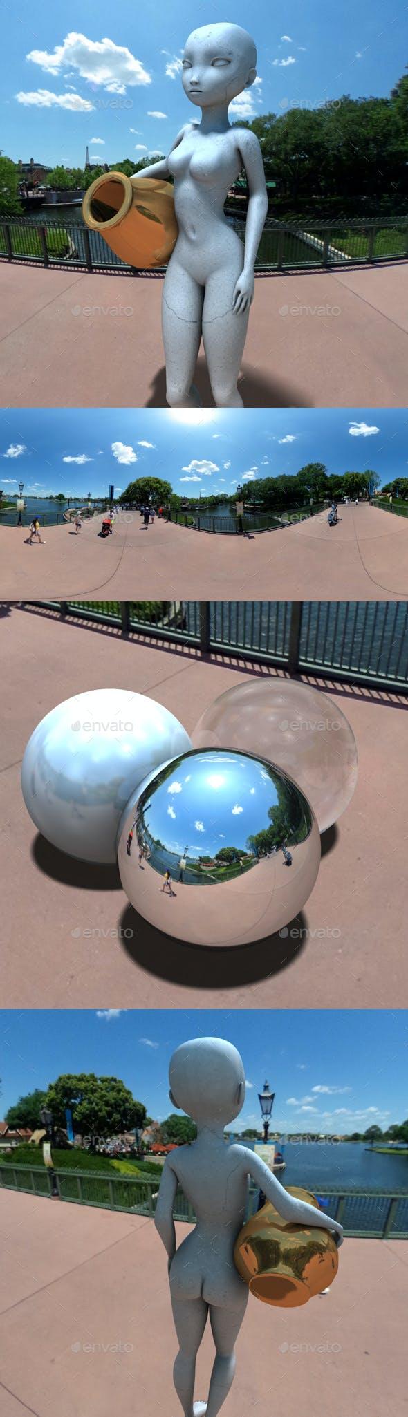 High Sun Blue Sky HDRI - 3DOcean Item for Sale