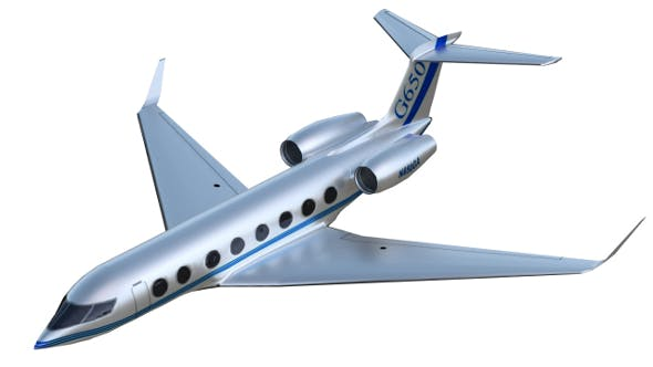 Gulfstream G650 business jet (PBR, uv-textured) - 3DOcean Item for Sale