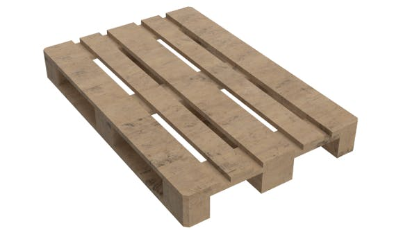 Wooden Euro Pallet Skid (PBR, UV-textured) - 3DOcean Item for Sale