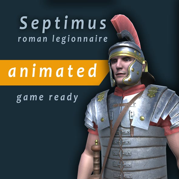 Septimus roman legionnaire animated character