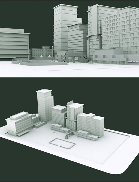 Phone City Model - 3DOcean Item for Sale