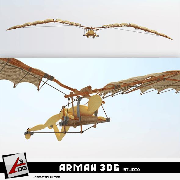 leonardo da vinci (flight) Models - 3DOcean Item for Sale