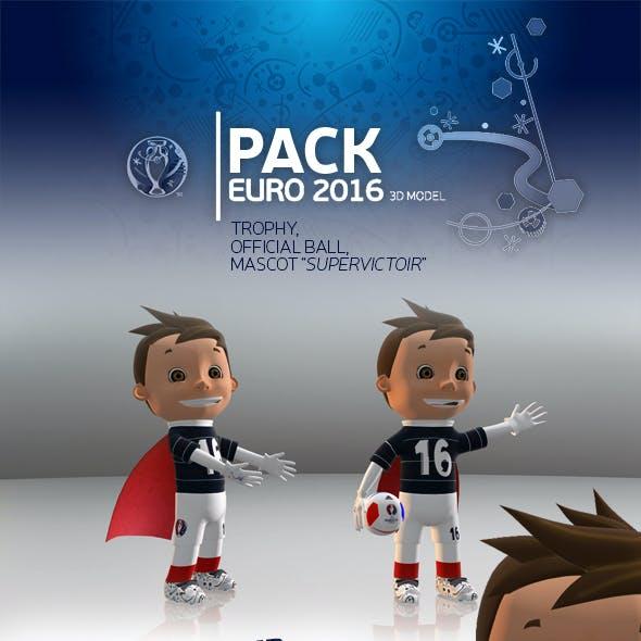 Pack Euro 3D Model