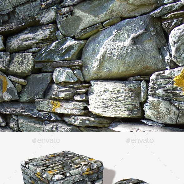 Crumbling Mossy Wall Seamless Texture