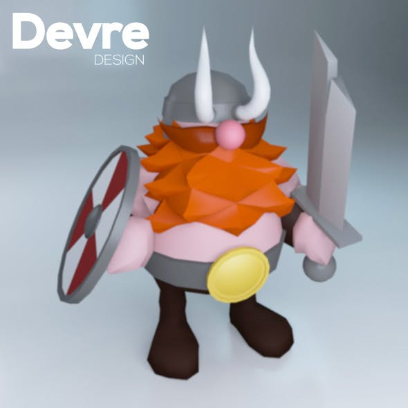 Low poly Viking Character