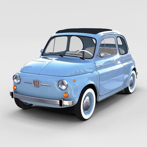 Fiat Nuova 500 1957 rev - 3DOcean Item for Sale