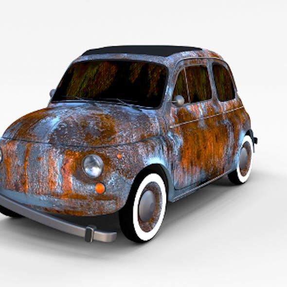 Rusty FIat 500 Nuova rev