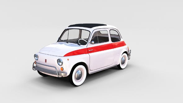 Fiat 500 Nuova Sport 1958 rev - 3DOcean Item for Sale