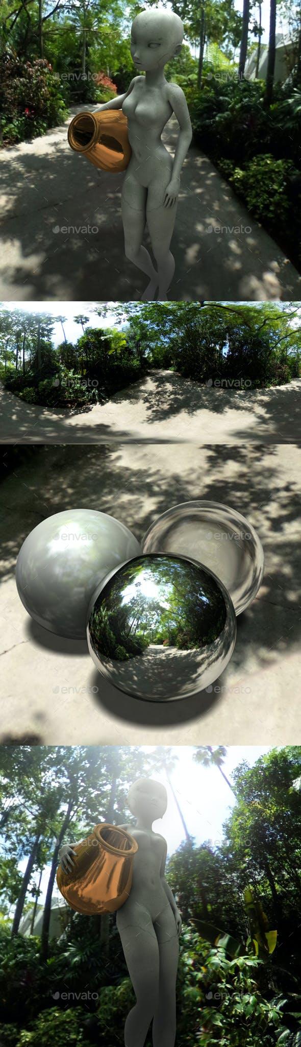 Tropical Trail HDRI - 3DOcean Item for Sale