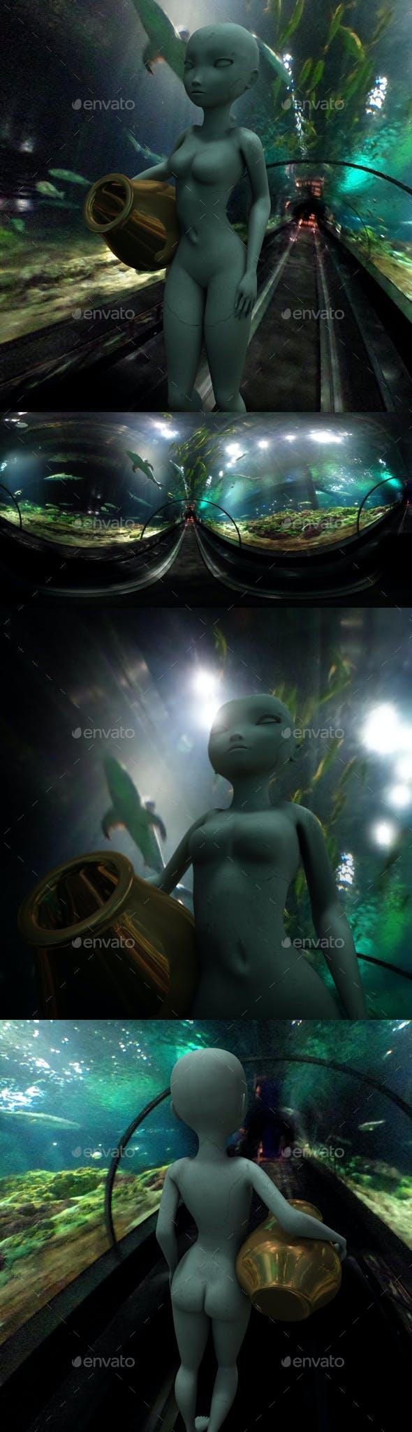 Underwater Tunnel HDRI - 3DOcean Item for Sale