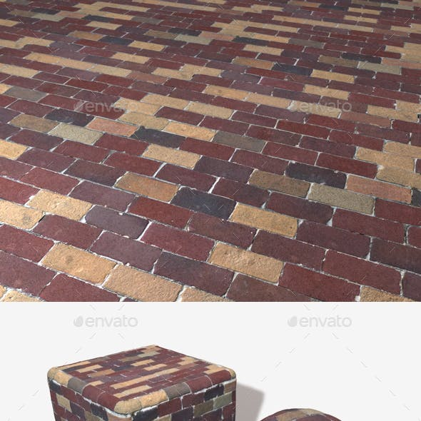 Colourful Bricks Seamless Texture