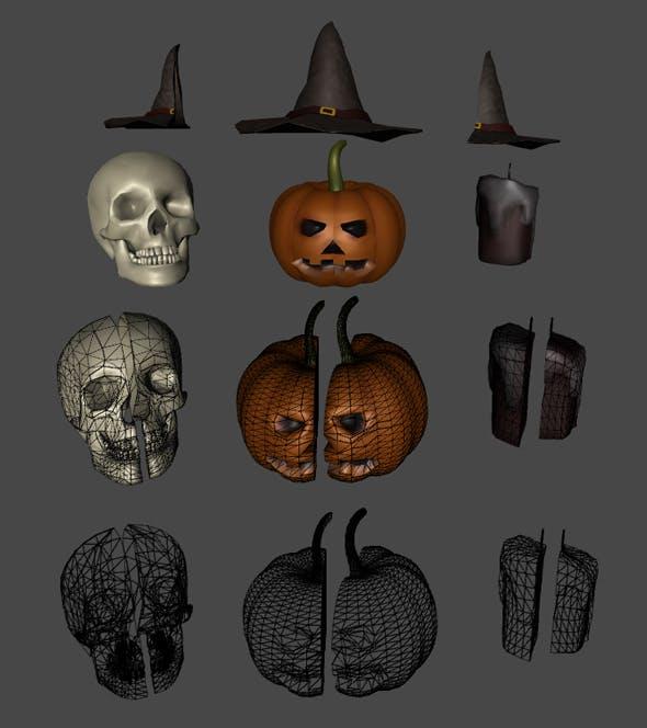 Halloween 3D Pack - 3DOcean Item for Sale