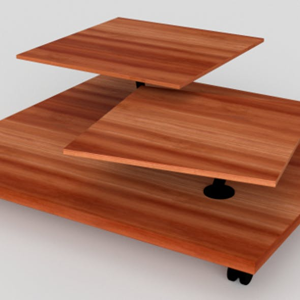 Wheeled low side table nr.01 (PBR, UV-textured)