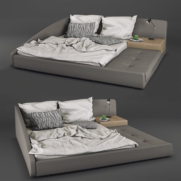 Bed ESF 1336 - 3DOcean Item for Sale