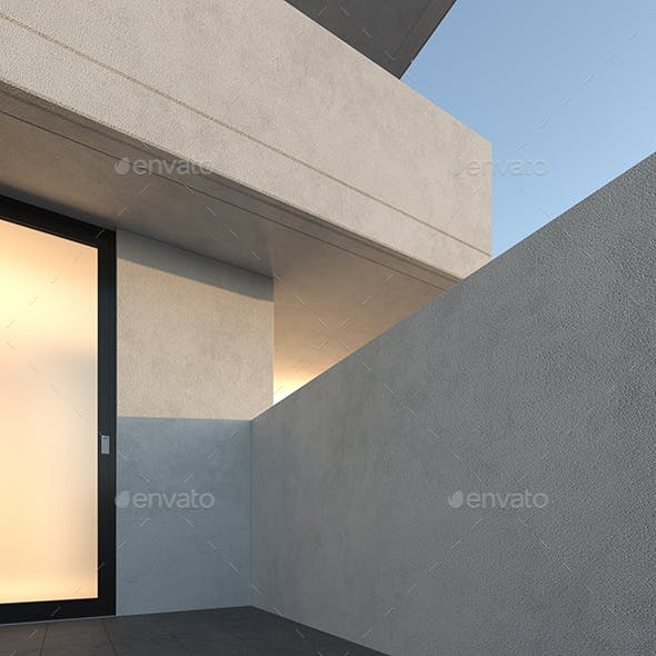 Seamless White Stucco Texture - 001