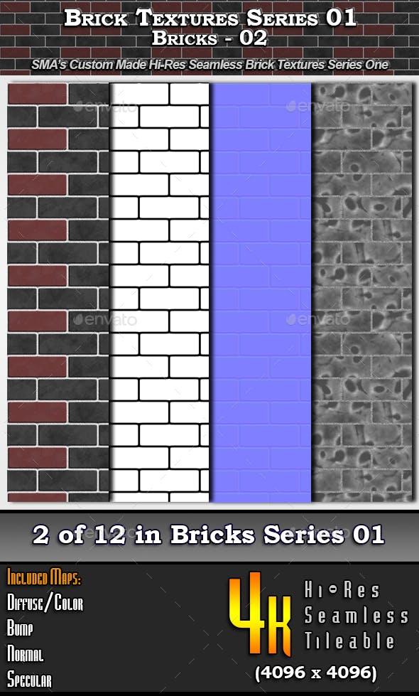 Hi-Res Texture Bricks-02 of Brick Textures - S01 - 3DOcean Item for Sale