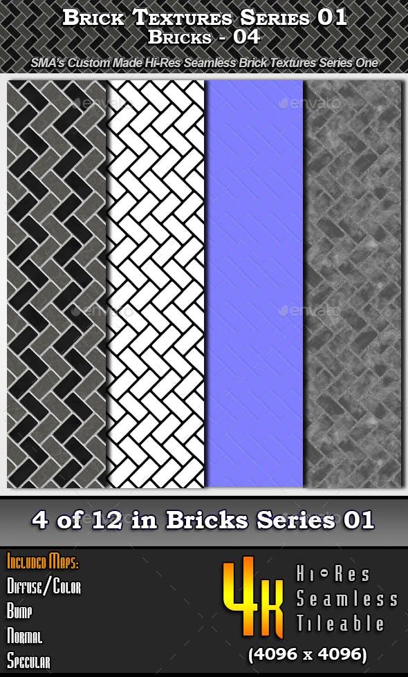 Hi-Res Texture Bricks-04 of Brick Textures - S01 - 3DOcean Item for Sale