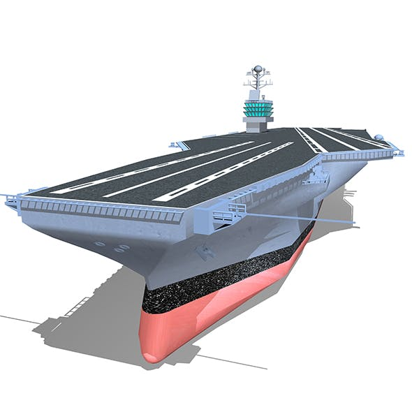 Lowpoly Aircraft Carrier