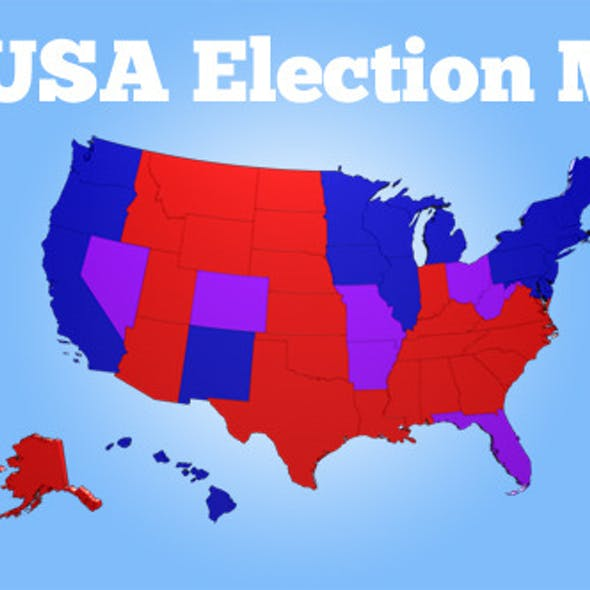 3D USA Election Map