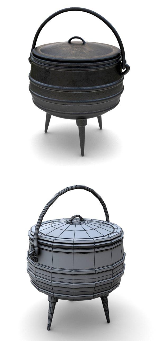 Iron Pot - 3DOcean Item for Sale