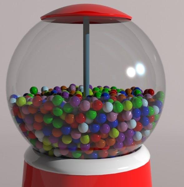 Gumball machine  - 3DOcean Item for Sale