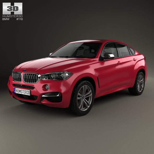BMW X6 (F16) M sport package 2014 - 3DOcean Item for Sale
