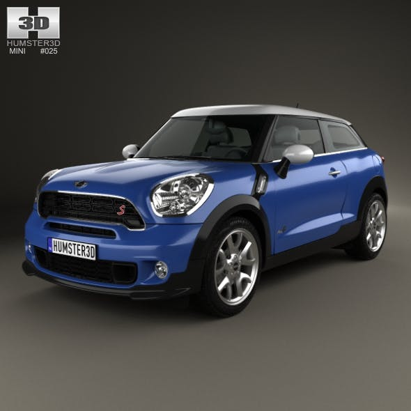 Mini Cooper Paceman S All4 2014 - 3DOcean Item for Sale