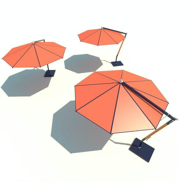 LOW POLY Woodline Picollo Round Cantilever Umbrella