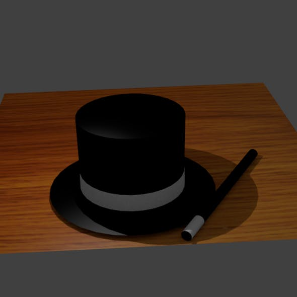 Magician Wand and Hat (Animated)