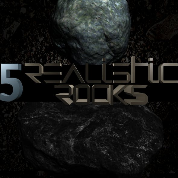 5 Realistic Rocks with Textures - 3DOcean Item for Sale