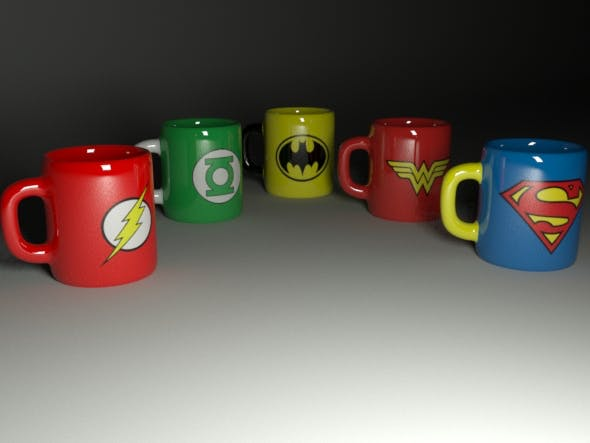collection of cups  - 3DOcean Item for Sale