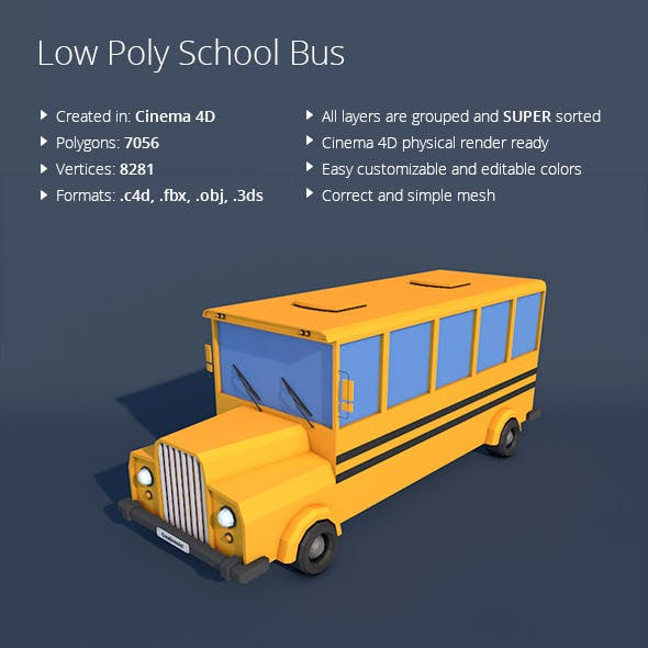 Low Poly School Bus