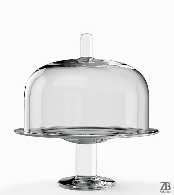 Cake Plate and Cloche - 3DOcean Item for Sale